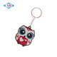 Cute owl design custom soft pvc keychains wholesale