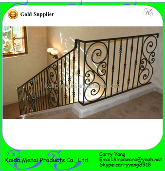 wrought iron indoor railing cast iron hot sale wrought iron simple indoor metal stair railings buy