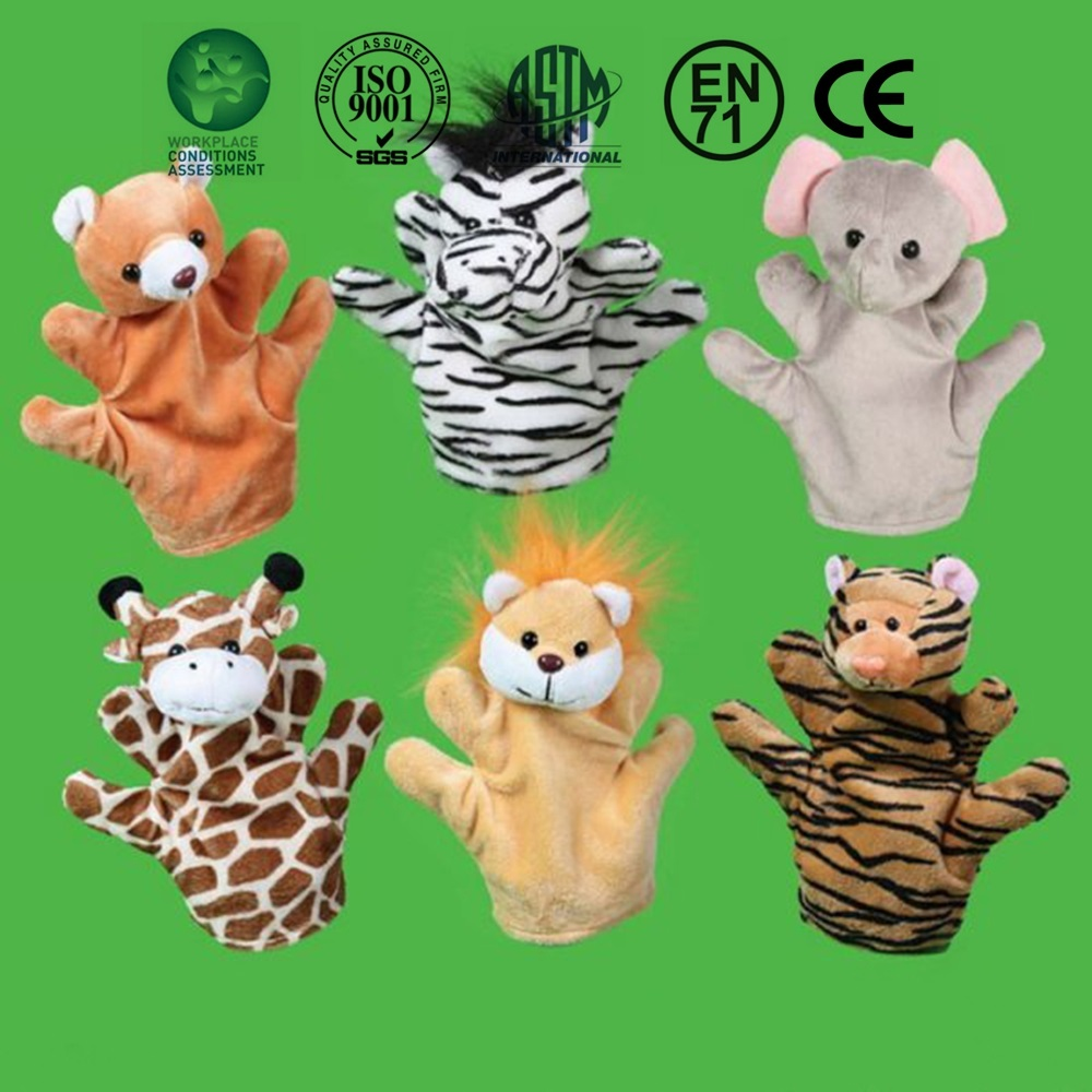 Animal Finger Puppets Plush Toy Tell Story Cute Cartoon Dolls Hand Puppet For