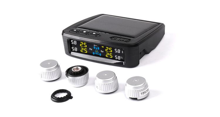 SPY universal Digital Car Tire Gauge Solar Power Car TPMS Tire Pressure Monitor System