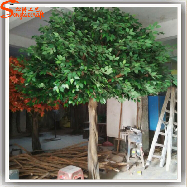 Export artificial oak trees branches and leaves artificial for Artificial trees for home decoration