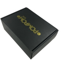 Black paper packing box heavy duty corrugated custom shipping box
