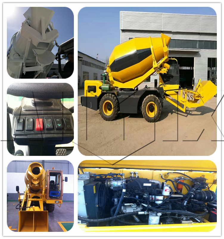 Self loading mobile concrete mixer price of self loading ready mix truck supplier