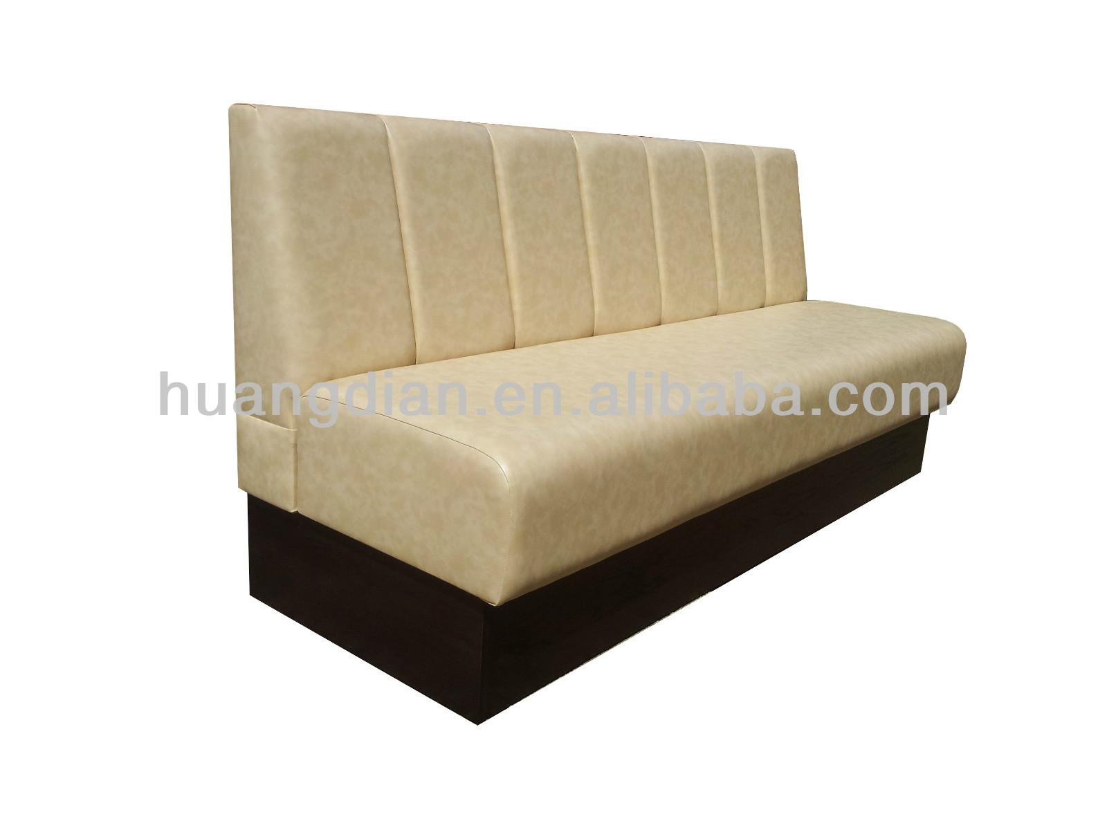 Moderne restaurant meubles de booth fixe sièges canapé en coupe ...