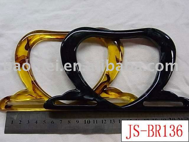 JS-BR136 heart-shaped resin handbag handle