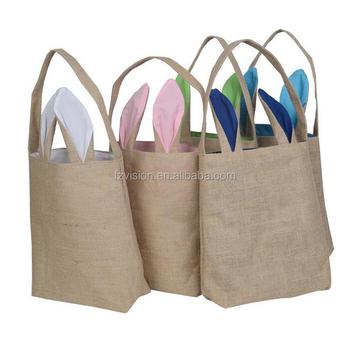 Wholesale Diy Easter Bunny Treat Bag Burlap Rabbit Gift Bag Buy