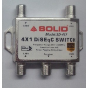 Solid Sd-417 Diseqc 2.0 Switch - 4in1