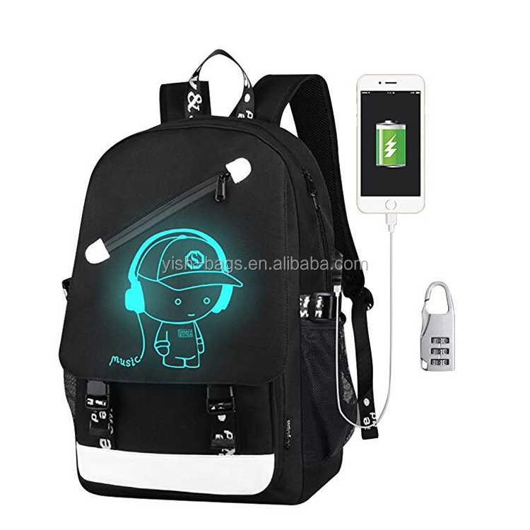 In Stock Boys Girls Unisex Oxford School <strong>Backpack</strong> with USB Charging Port