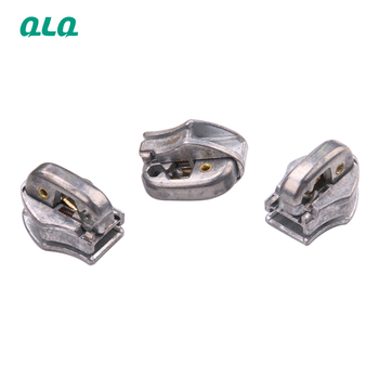 QLQ Wholesale 5# magnetic N51ZA Auto-lock Train type slider body without puller in original zinc color for nylon open end zipper