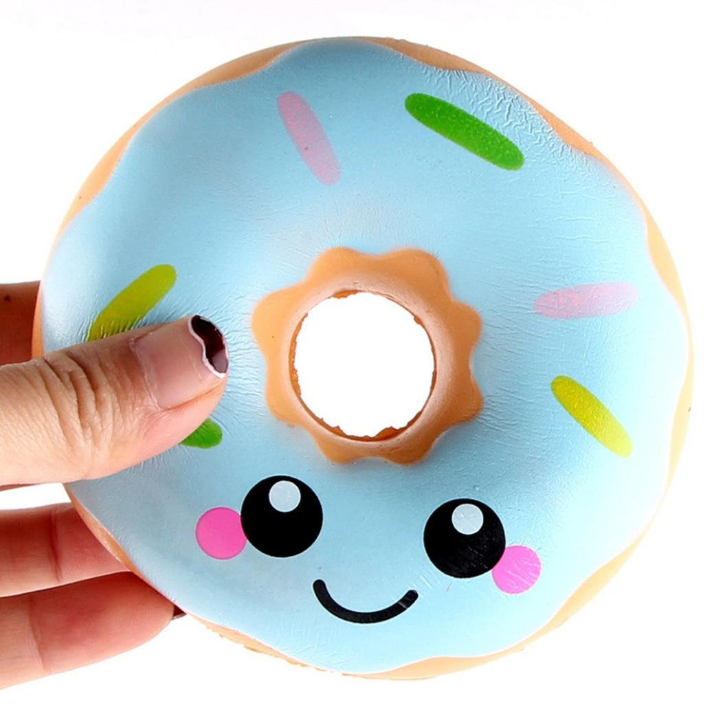 Mochi Squishy Toys , Mingcf 1 Cent Items Kawaii Squishies Toys | Doughnut Cream Squishes Toys | Squishys Slow Rising | Stress Relief Toy | Hand Wrist Toys | Decoration | Bath Toys (11X11X4CM)