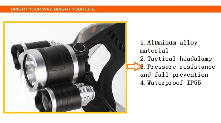 Ultra Bright Manufacturers Zoom Flashlight T6 2x18650 Battery High Powered Rechargeable Mining Zoomable Led Headlamp