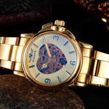 2016 часы WINNER, золотые, милые, Роскошные, брендовые, женские, модные, автоматические, с отверстиями, женские, под платье, механические часы(Китай)