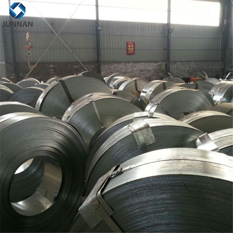 GI galvanized steel strips in coil / Black Bainted / Blue Steel Metal Strapping / Steel Packing Strip