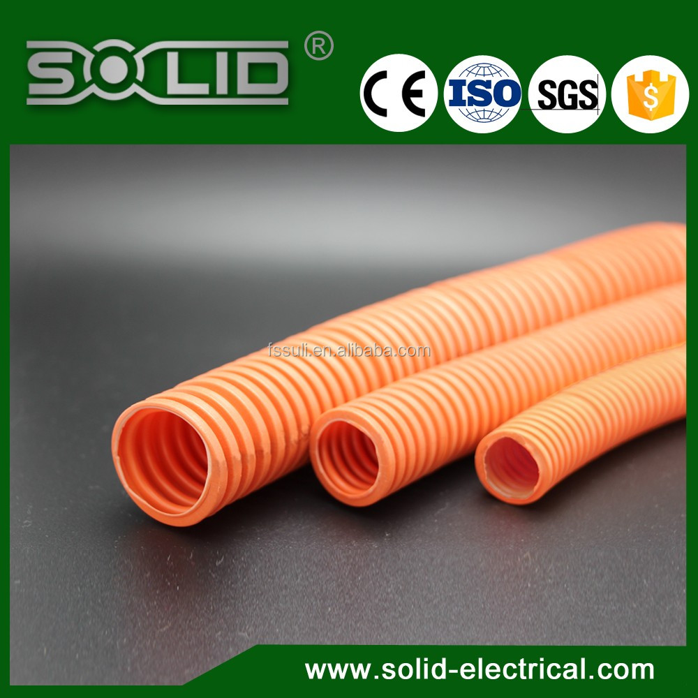 Flexible Corrugated Pp Flame Retardant Conduit Plastic Wiring Cable Pipe Polypropylene Hose With Rohs Fv