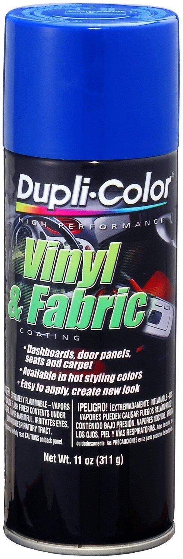 Dupli-Color (HVP102-6 PK) Blue Vinyl and Fabric Coating - 11 oz. Aerosol, (Case of 6)