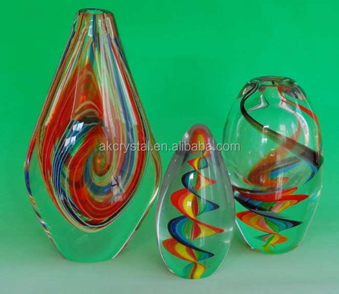 NEW! Europe regional feature, hand made egg shape colorful glass trophy crystal awards