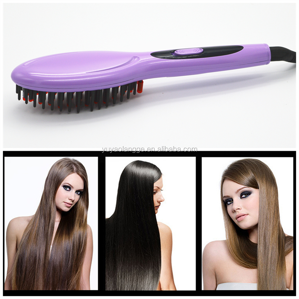 Ceramic Electric  Best Hair Straightener in india Straightening Flat Iron Comb Heating Brushes High Quality Free Shipping