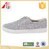 new arrive man canvas shoes with lace