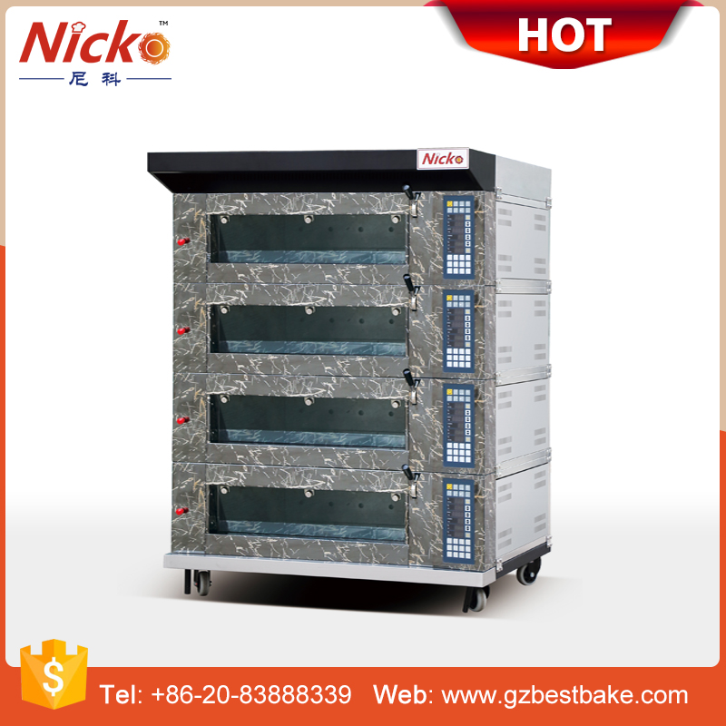 Nicko's electric deck baking oven for bread machine, hot sale bakery equipment
