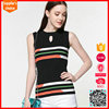 Hot selling fashion style sleeveless summer ladies acrylic knitted vest