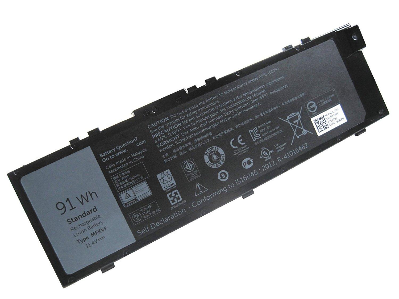 ZWXJ Laptop Battery Type MFKVP (11.4V 91WH ) For DELL Precision 7710 MFKVP