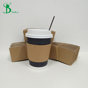 Recycled 100 Pack 12 Oz Disposable Insulated Hot Paper Coffee Cups, Lids, Sleeves, Stirring Straws To Go