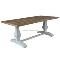 FN-6544 high quality hand carved recycled wood dining table