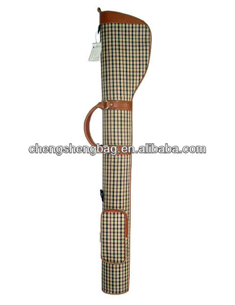 Fashion OEM Logo Plaid Golf Gun Bag