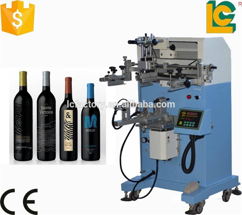 Alibaba China high quailtuy supplier round bottle used rotary silk screen printing machine