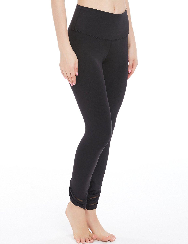 dbb9e6388d1c2c Get Quotations · icyzone Women's Tummy Control Slimming Shaping High Waist  Yoga Tights Leggings