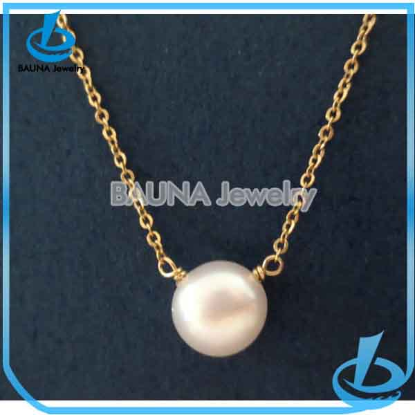 Simple Classic Button Pearl Necklace Design Ideas - Buy Pearl ...