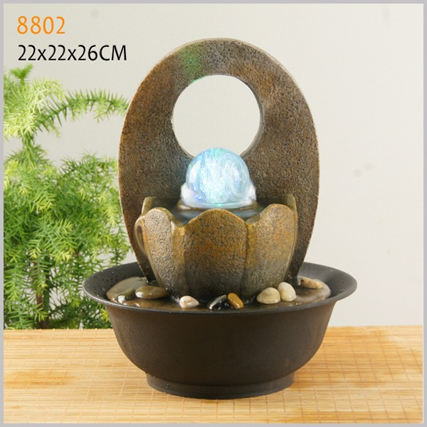 Polyresin indoor table fountain item feng shui mini water fountains