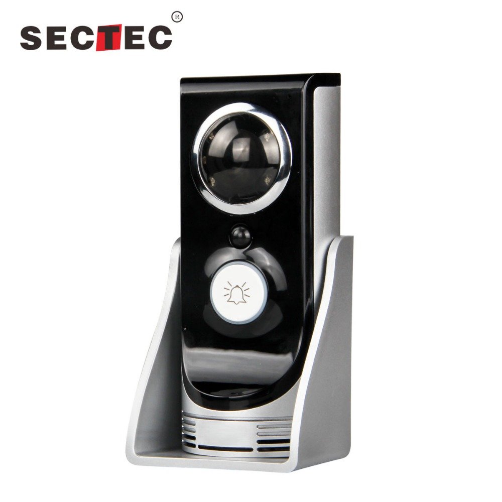 New IR night vision motion detect alarm rain-proof cover doorbell wireless