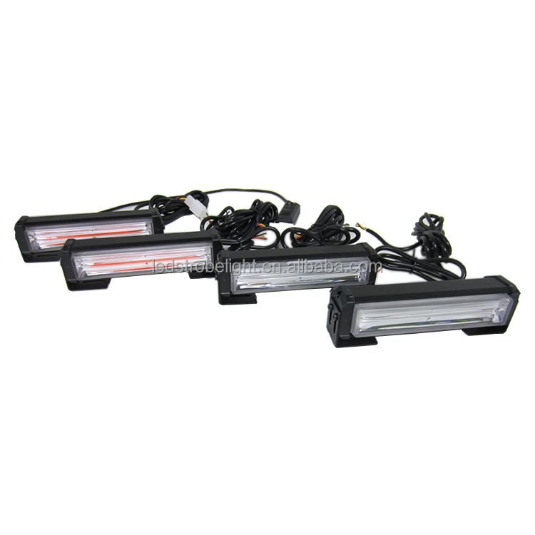 4 x 10W COB LED Warning Traffic Light Emergency Strobe Lightbar Surface Flashing Police Light Bar - Red Blue