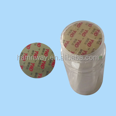 aluminum foil plastic soda bottle induction cap sticker line