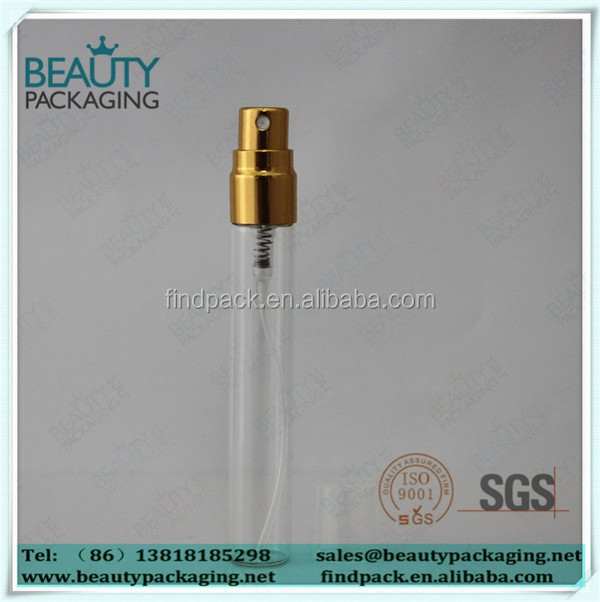 7ml mini glass bottle with aluminum spray pump