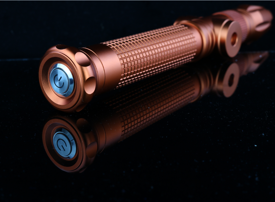 ハイパワー燃焼照明強力なブルー 5 ワットレーザーポインター