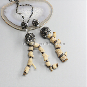 LS-H024 Wholesale coral fossiled pendant natural sea coral tree pendant with Grade AAA rhinestone