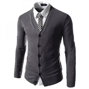 Cotton Man Knitwear sweater men cardigan knitted Solid 99174