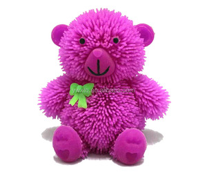 new style, the little flashing bear kids toy, squishy toy