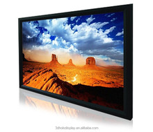 4K  Fixed Frame Projector Screen Projection Screen With Black Aluminum Housing