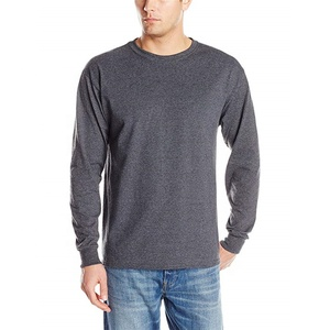 Dri Fit Mens Linen Long Sleeve Crew Neck Tee Shirts