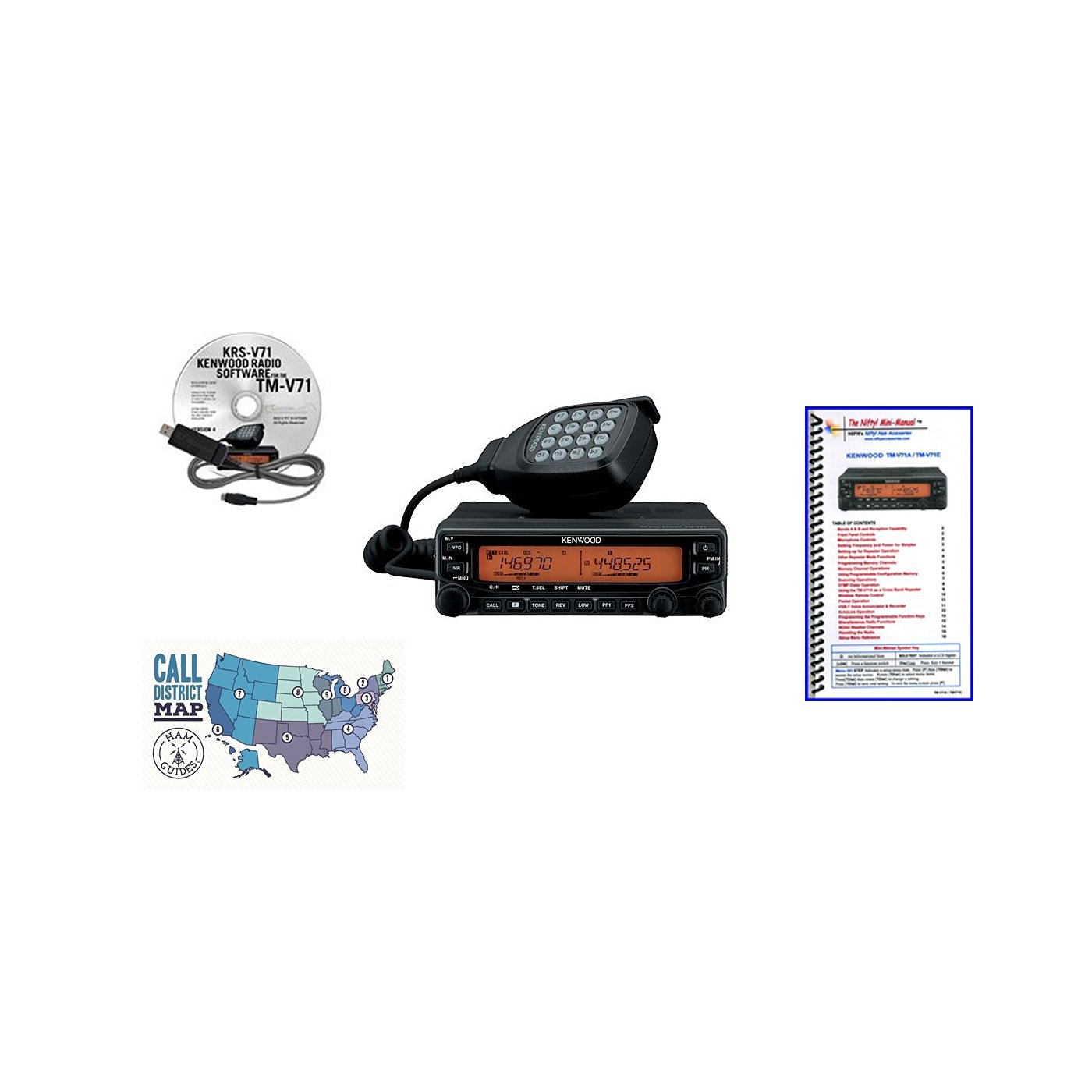 Buy Kenwood TM-V71A Radio - Programming Software/Cable
