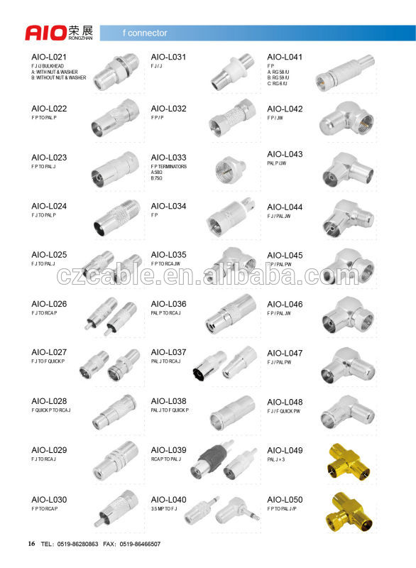 F Type Male Rf Connector 90 Degree Right Angle For Rg213