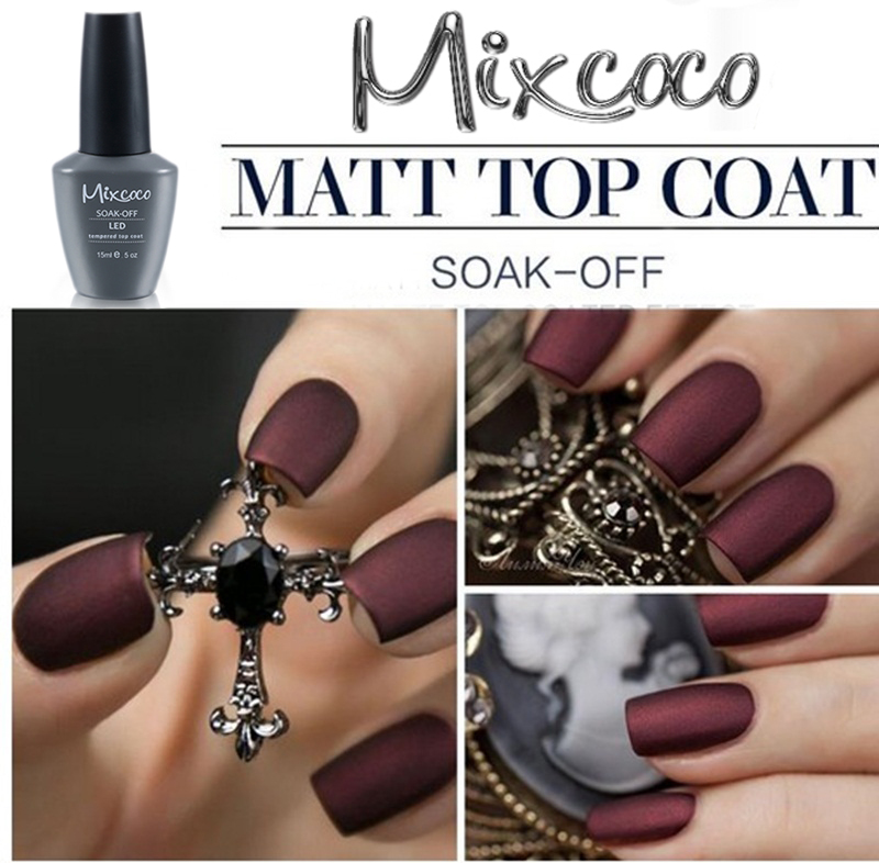 Mixcoco Nail Spa Salon Matt Top Coat Gel Soak Off Matte Polish Uv Whole
