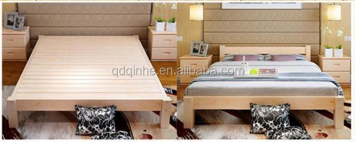japanese korea style solid wood tatami pine bed wooden bed latest wooden bed designs