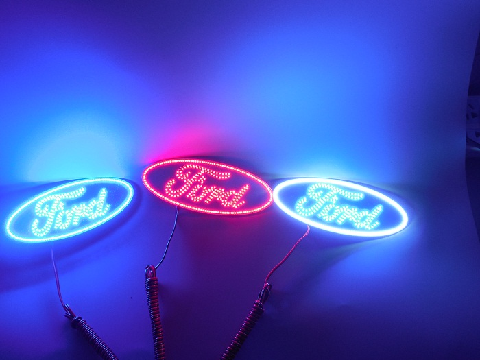 Purple Color Multi Color Changing Led Logo For 90s-00s Gmc Sierra With  Bluetooth Remote Controller - Buy Multi Colors Led Logo For Gmc,Colorshifts  Led