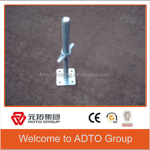 Construction Material adjustable metal shoring Jacks/Screw Base jack for exports