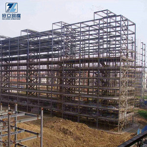 Prefabricated steel structure frame high rise steel building