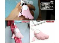 fashion angel wings key ring Mini Security Personal Alarm Keychain